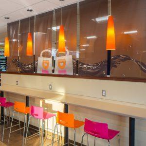 GoCo Dunkin Donuts guest dining bar