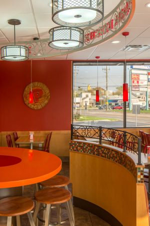 Guest dining area at GoCo Popeyes