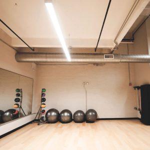 Alumni Lofts fitness center