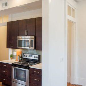 Findlay Market Development open floor plan kitchen and hallway view