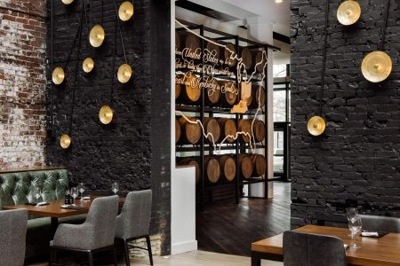 Restaurant area at Hotel Covington