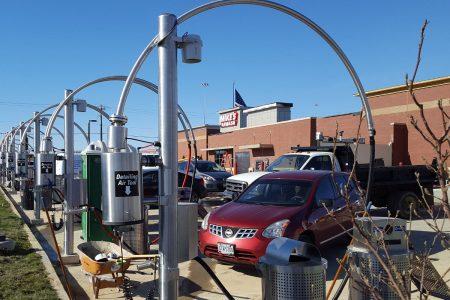 Detailing stations at Mike's Carwash