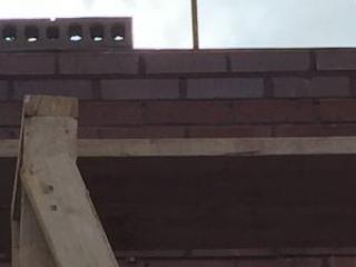 Brick laying detail at Mike's Carwash